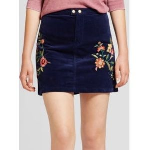 Navy Floral Mossimo Skirt. Size 12